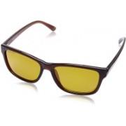 Fastrack Wayfarer Sunglasses(Yellow, Brown)