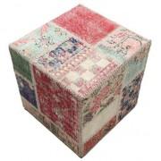 Patchwork stool ottoman 50x50 Orientalisk