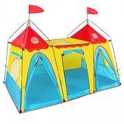 Best Choice Products Kids Play Tent Big Girl Indoor Outdoor Fantasy Palace Castle Easy Set Up House