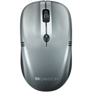 Mouse, CANYON CNE-CMSW03DG, Wireless, USB, Grey