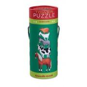 Crocodile Creek Puzzle dla dzieci - wieża, stodoła, zwierzęta wiejskie, 36 el. (puzzli), 3 lat +,