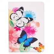 Shop4 - iPad Pro 10.5 Hoes - Book Cover Kleurrijke Vlinders Wit