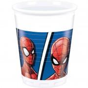 Marvel 16x Marvel Spiderman feestartikelen bekertjes 200 ml papier/karton