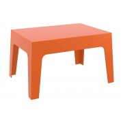 CLP Mesa auxiliar BOX 70 x 50 cm, naranja naranja, altura del asiento