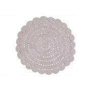 Miliboo Tapis rond en crochet gris clair 120 cm ALMA