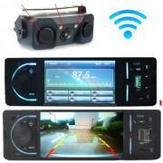 """Kit retromarcia per Auto con Stereo LCD 4"""" multifunzione e telecamera senza fili"""