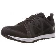 Reebok Men's Train Fast Xt Black,Gravel,White and Silver Met Mesh Training Shoes - 8 Uk