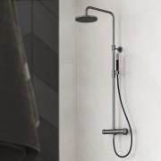 Hotbath Cobber SDS 9 thermostatische stortdoucheset mat zwart