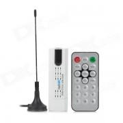 MINI DVB-T2 USB DVB-T / T2 / C Receptor de TV c/ FM? Antena - Blanco + Negro