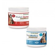 NWC Naturals Total-Digestion Digestive Enzymes & Probiotics Dog & Cat Powder Supplement Twin Pack, 2.22-oz jars