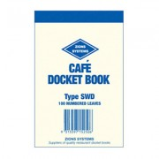ZIONS SWD CAFE DOCKET BOOK SINGLE PLY