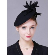 rosegal Vintage Flower Feather Cocktail Hat