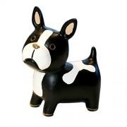Eastyle Dog Bank French Bulldog Piggy Banks For Kids Birthday Christmas Gift (Black)