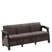 Canapea 3 locuri maro Keter Corfu Love Seat