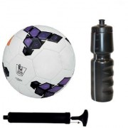 Kit of Premier League Purple Football (Size-5) with Air Pump & Sipper