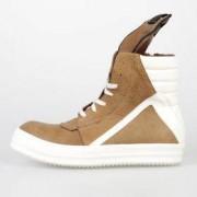 Rick Owens Sneakers Geobasket In Pelle Mustard/milk/wb Autunno-Inverno Art. 73901