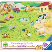 Puzzle Din Lemn Ferma, 9 Piese Ravensburger