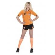 Disfraz de Jugadora de fútbol Holandés para mujer.