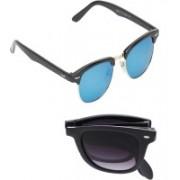 Vast Clubmaster, Wayfarer Sunglasses(Blue, Grey)