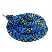 """Verphaoed 113"""" Giant Boa Constrictor Stuffed Animal Soft Snake Plush Toy - Blue"""