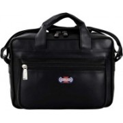 YES STYLE Men & Women Black Messenger Bag