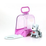 Silverlit Lil'Puppies with Carrying Case - I Walk, Sing, Bark & Move