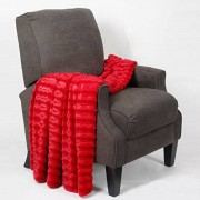 Home Soft Things Boon Derby Manta de Piel sintética de Doble Cara, 152 x 203 cm, diseño de Pimienta Chili