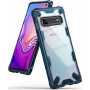 Husa Samsung Galaxy S10 Ringke FUSION X Transparent Albastru