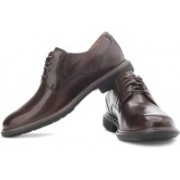 Clarks Un Walk Genuine Leather Lace Up Shoes For Men(Brown)