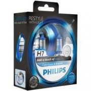 Set 2 Becuri auto far halogen Philips H7 Color Vision Blue 12V 55W