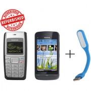 Refurbished Nokia 1110+ Nokia C5-03+USB LED