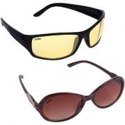 Aligatorr Combo Of 2 Cat Eye Night Drive Unisex Sunglasses ldy brnndylCRLK