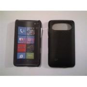 Черен силиконов твърд гръб за HTC HD7