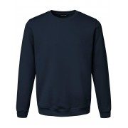 Louis Sayn Heren Sweatshirt van 100% katoen met logoborduursel Van Louis Sayn blauw