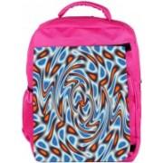 Snoogg Eco Friendly Canvas Abstract Patterned Design Designer Backpack Rucksack School Travel Unisex Casual Canvas Bag Bookbag Satchel 5 L Backpack(Pink)
