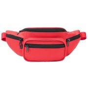 Brandit Bolso de la correa de cintura Negro Rojo un tamaño