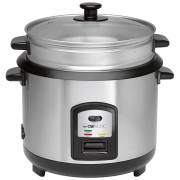Clatronic RK 3567 - Arrocera de acero inoxidable, capacidad 3 litros para 2,5 kg arroz hervido, 700 W