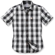 Carhartt Slim Fit Plaid Camisa de manga corta Negro/Blanco XL