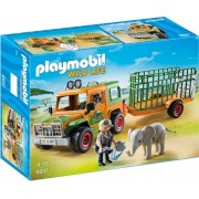 Camion Forestier si Elefant Safari Playmobil
