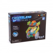 Puzzle cuburi cu LED 6 in 1 - Robot, Masini, Aeronave - 91 piese