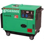 Generator de curent electric, motor diesel, 5.5kW, insonorizat cu pornire automata Greenfield LDG6500S