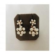 Bigiotteria artigianale Orecchini Con Pigne Di Perle A Ciondolo Con Bottone