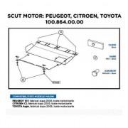Scut Motor Metalic Asam Peugeot 107 Citroen C1 Toyota Aygo