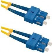Cablu de retea din fibra optica cu conectare dubla pentru un singur mod , Qoltec ,SC/UPC SC/UPC , G652D , 1m