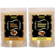 Donnara Organics 100% Natural Reetha Powder and Shikakai powder Combo pack of 2 of 150 gms(300 gms)