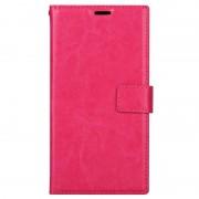 Capa Clássica Tipo Carteira para Sony Xperia XA1 Plus - Cor-de-Rosa Forte