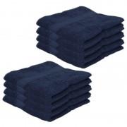 Jassz 8x Voordelige handdoeken navy blauw 50 x 100 cm 420 grams