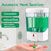 dispenser distributore automatico di gel o sapone disinfettante per mani da 700ml con sensore no touch montato a parete spray sapone a batterie