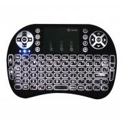 I8 Retroiluminación Mini Teclado Inalámbrico 2,4 GHz Ratón De Aire Touchpad (negro)