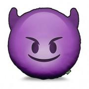 Almofada Emoji Diabinho Lilás Emoticon